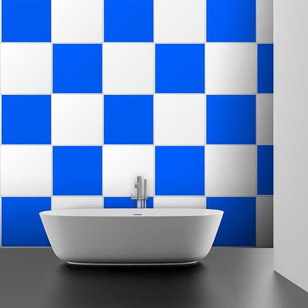 Kit 48 adhesivos azulejos ajedrezado - Vinilos decorativos azulejos ...