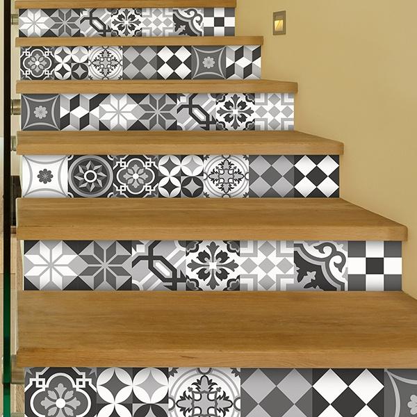 Kit 48 vinilos para azulejos blanco y negro - Vinilos decorativos azulejos ...
