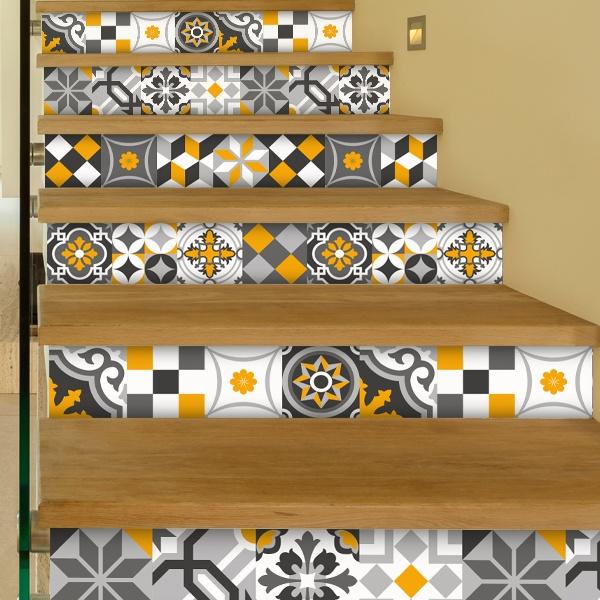Kit 48 vinilos para azulejos ornamental - Vinilos decorativos azulejos ...