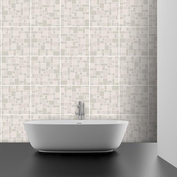 Kit 48 vinilos para azulejos baldosa gris - Vinilos decorativos azulejos ...