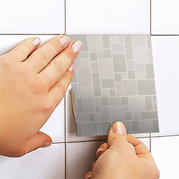 Kit 48 vinilos para azulejos baldosa gris - Vinilos para azulejos ...