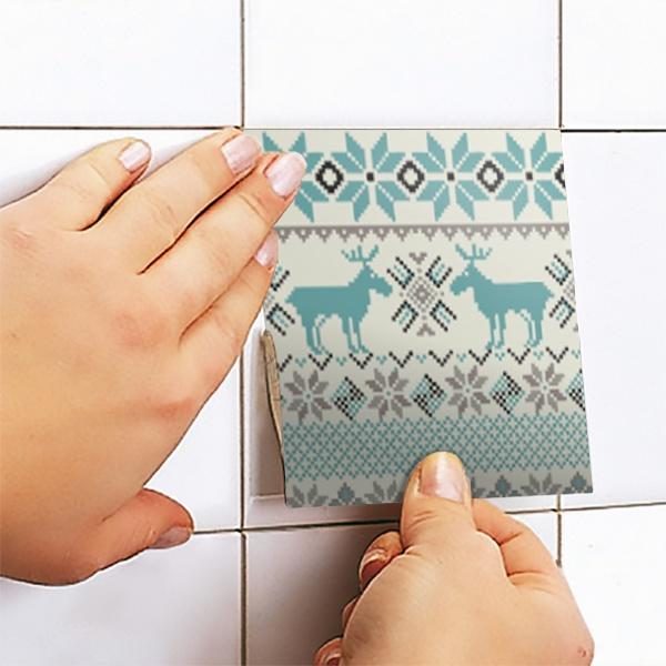 Vinilo decorativo kit 48 vinilos para azulejos invierno - Vinilo para azulejos ...