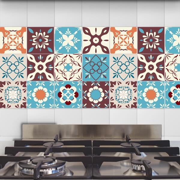 48 vinilos para azulejos retro for Vinilos pared azulejos