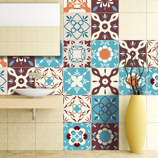 48 vinilos para azulejos retro for Azulejos decorativos