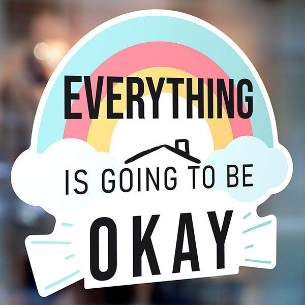 Vinilos Decorativos: Arcoíris Everything is going to be okay