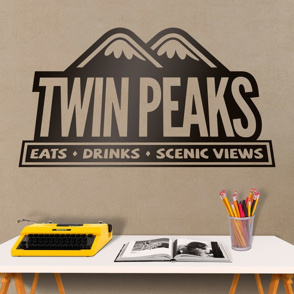 Vinilos Decorativos: Logo Twin Peaks Restaurant