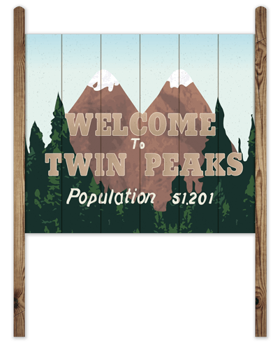 Vinilos Decorativos: Cartel Welcome Twin Peaks