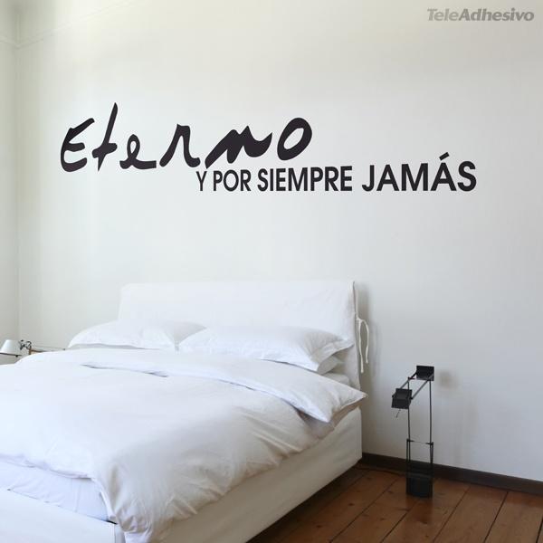 Vinilo cabecero eterno y por siempre - Stickers decorativos para dormitorios ...