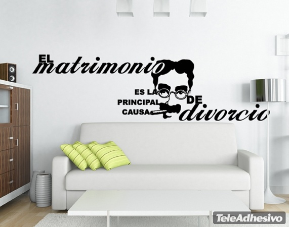 Vinilo decorativo matrimonio divorcio for Vinilos pared dormitorio matrimonio