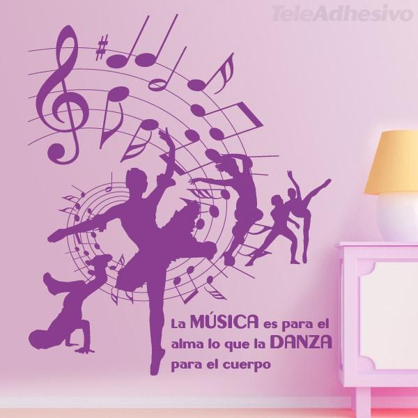 Vinilo decorativo dance m sica danza y baile for Vinilos decorativos sobre musica