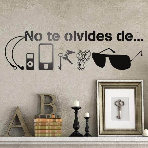 No te olvides for Vinilos pared frases