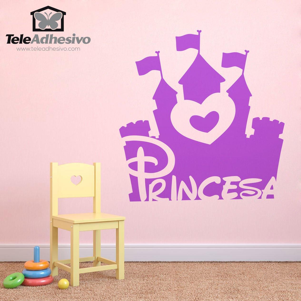 Vinilo infantil castillo de la princesa - Vinilos de hadas infantiles ...