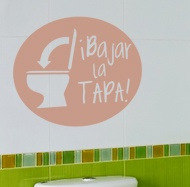 Vinilo para el ba o bajar la tapa for Tapaderas de wc