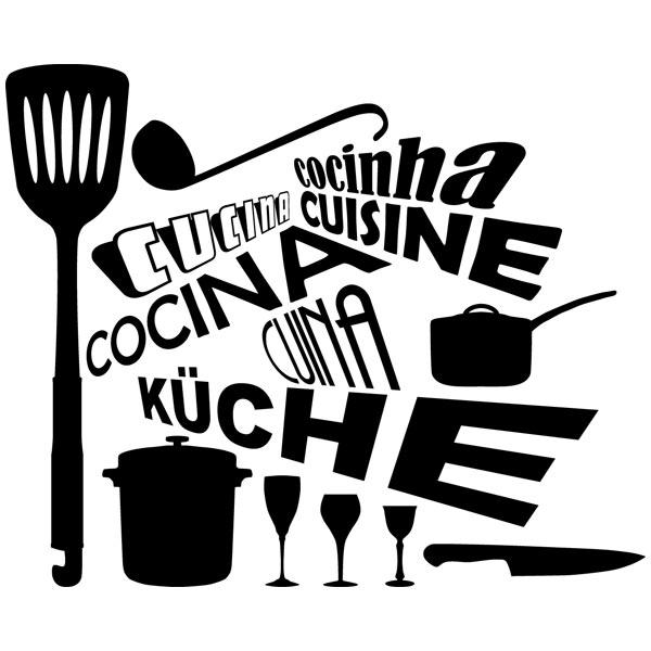 Vinilo palabra cocina en distintos idiomas - Vinilos cocina originales ...