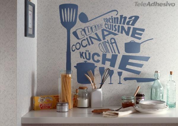 Vinilo palabra Cocina en distintos idiomas