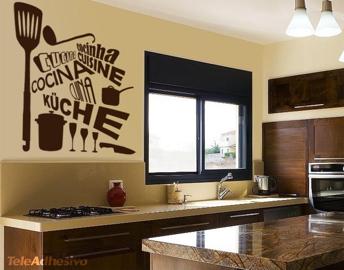 Vinilo para cocina cocina idiomas - Vinilo muebles cocina ...