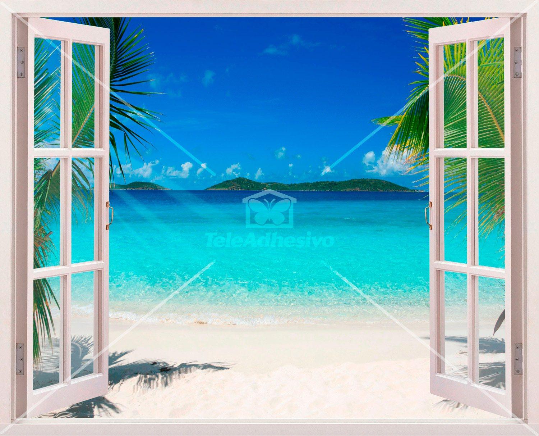 Vinilo decorativo playa en el caribe for Vinilos murales paisajes