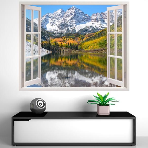 Vinilos decorativos de ventanas efecto 3d teleadhesivo - Adesivi natalizi per finestre ...