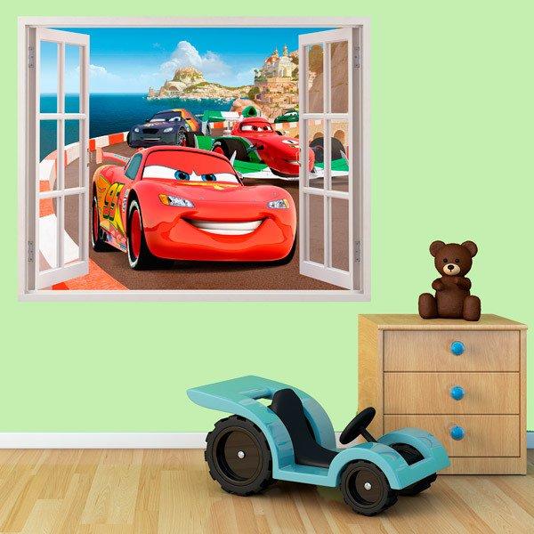 Vinilos decorativos de ventanas efecto 3d teleadhesivo for Vinilos muebles infantiles