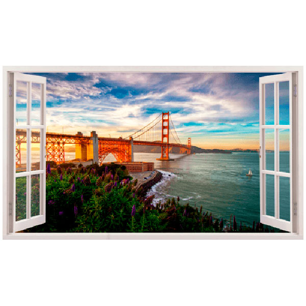 Vinilos Decorativos: Panorámica Golden Gate