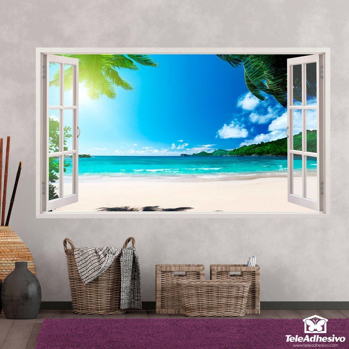 Compra vinilos decorativos de ventanas teleadhesivo for Vinilos pared paisajes