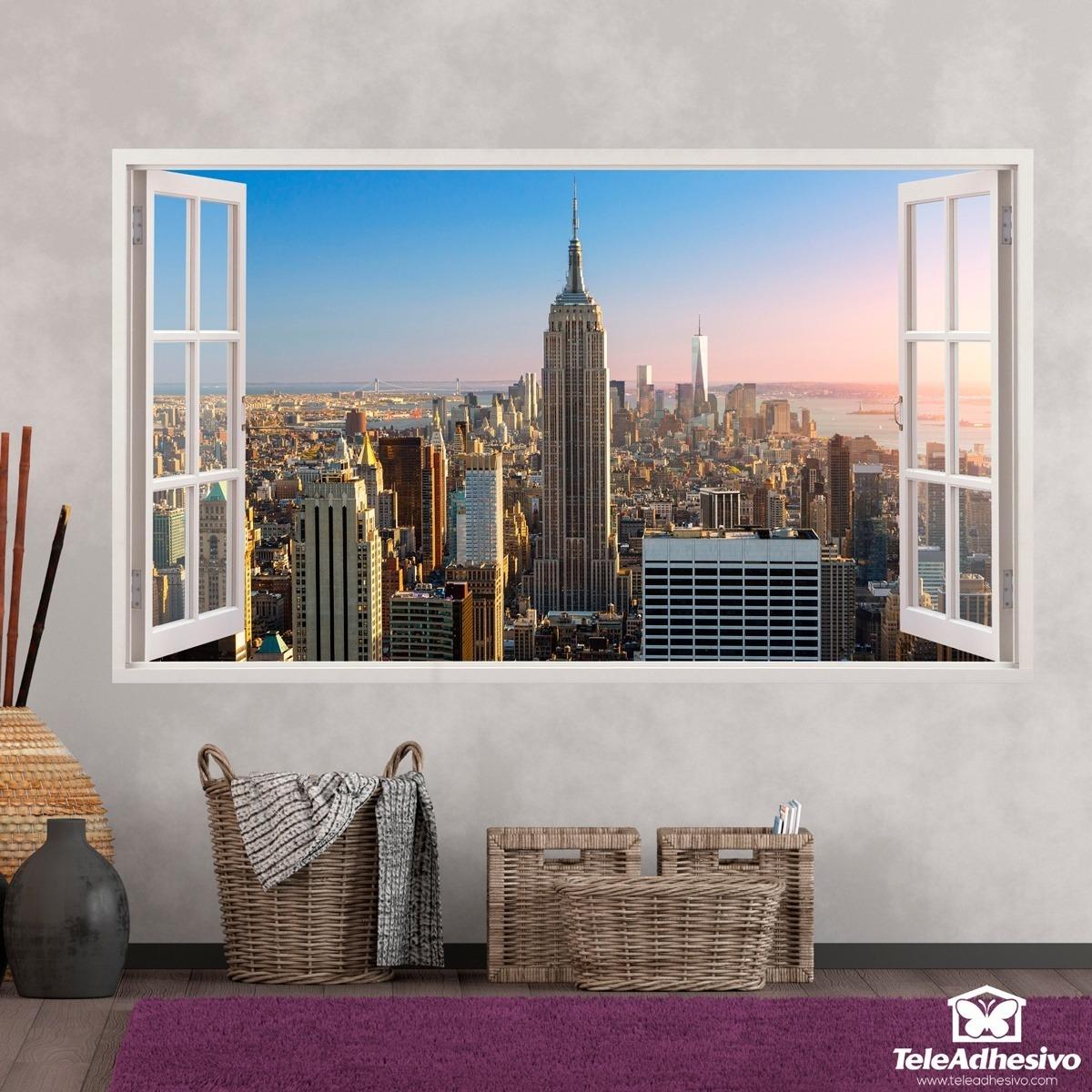 Vinilos decorativos de ventanas en teleadhesivo for Vinilos pared new york