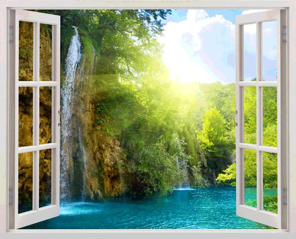 Ventana abierta al paraiso - Vinilos cristales ventanas ...