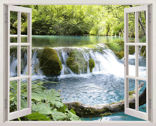 Fotomural waterfall for Vinilos decorativos pared 3d