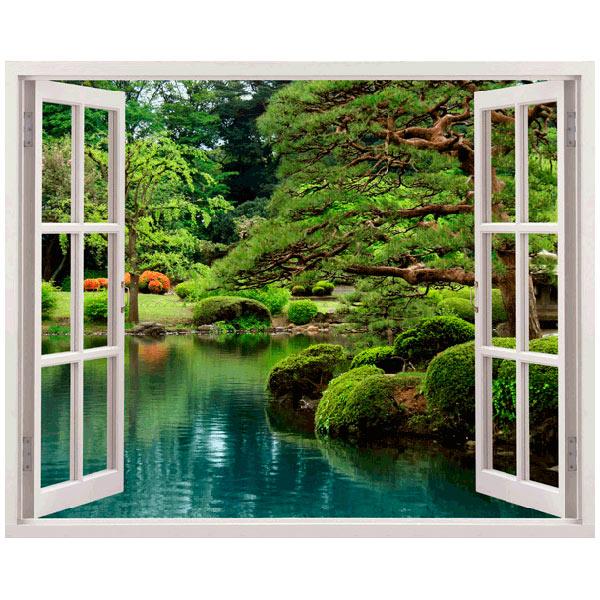 Ventana jard n zen - Vinilos decorativos zen ...
