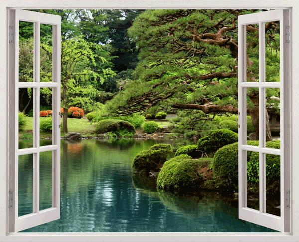 Ventana jard n zen for Figuras para jardin zen