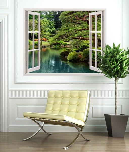 fotomural jard n zen. Black Bedroom Furniture Sets. Home Design Ideas