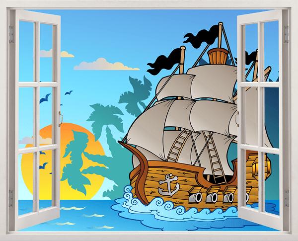 Ventana infantil de un barco pirata - Piratas infantiles imagenes ...