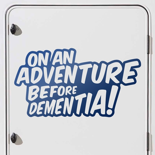 Pegatinas: On an adventure before dementia