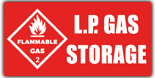 Pegatinas: LP GAS Storage