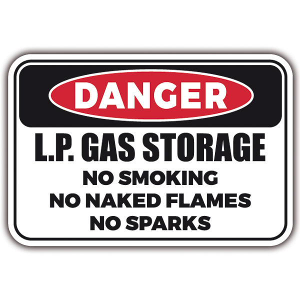 Pegatinas: DANGER - LP GAS Storage
