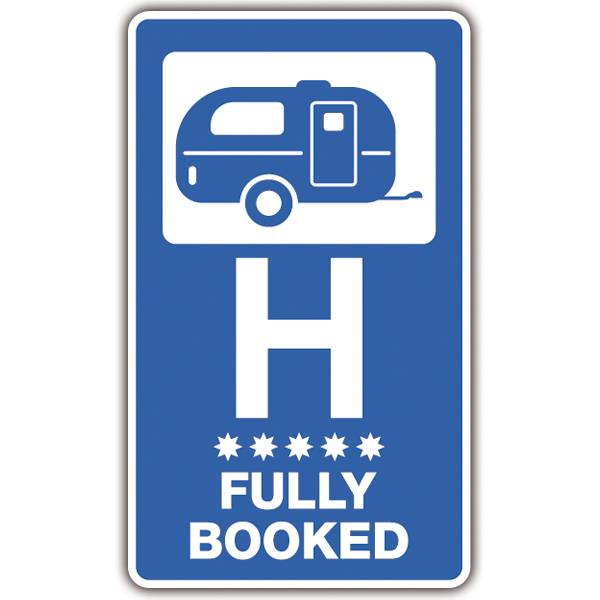 Pegatinas: Hotel Fully Booked