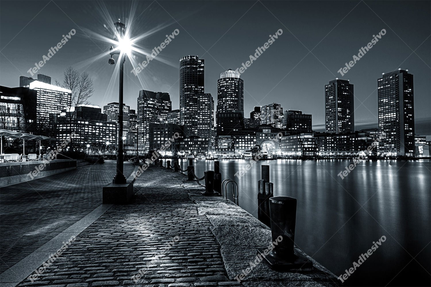 Fotomurales: Boston nocturno