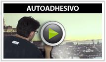 Vídeo colocación fotomurales autoadhesivos